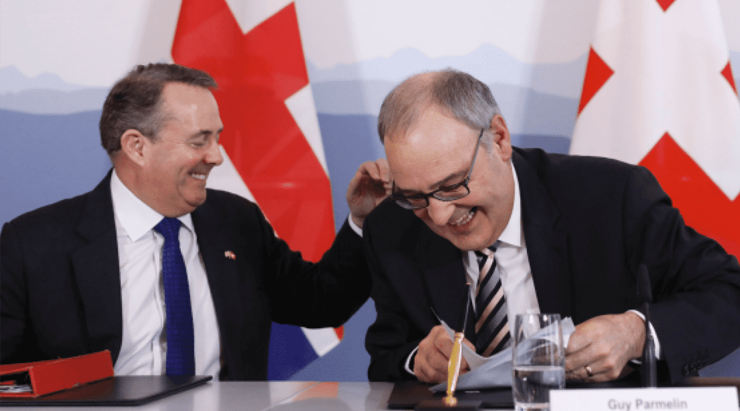 Post-Brexit Trade Agreement to be signed by Switzerland and the UK